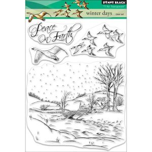 Penny Black Winter Days Clear Stamp Set