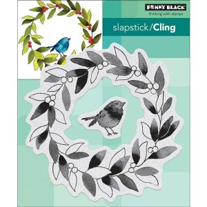 Penny Black Tweet Wreath Slapstick/Cling Wreath