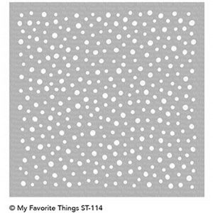 My Favorite Things Snow Flurry Stencil
