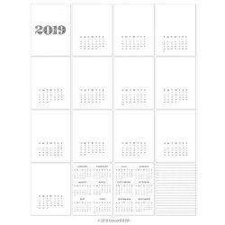 Concord & 9th 2019 Calendar