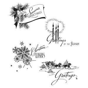 Stampers Anonymous Tim Holtz Holiday Greetings Stamp
