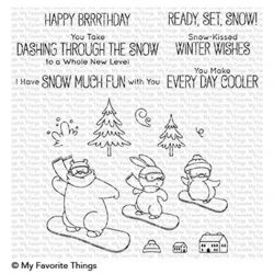 My Favorite Things Ready, Set, Snow Stamp Set