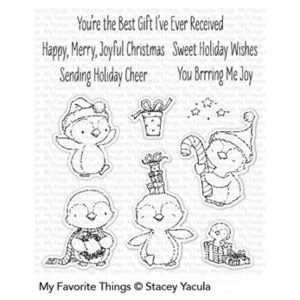 My Favorite Things Sweet Holiday Penguins Stamp Set