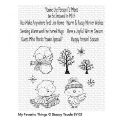 My Favorite Things Warm & Feathered Hugs Stamp Set