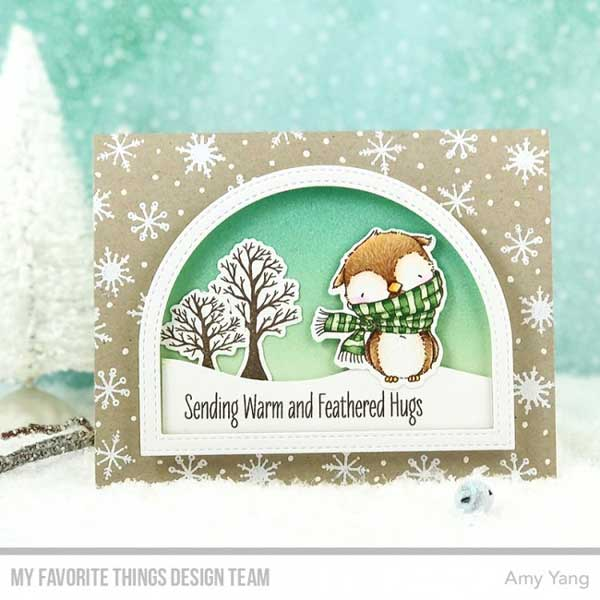 My Favorite Things Warm Amp Feathered Hugs Stamp Set The