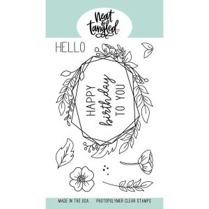 Neat & Tangled Floral Frame Stamp Set
