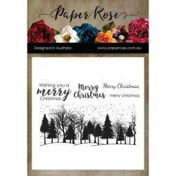 Paper Rose Winter Trees Stamp Set