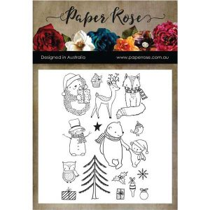 Paper Rose Cozy Winter Stamp Set class=