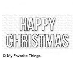 My Favorite Things Happy Christmas Die-namic