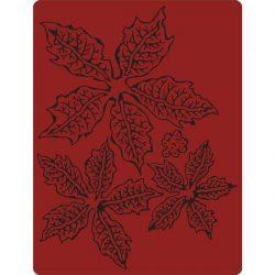 Sizzix - Tim Holtz Texture Fades Embossing Folder - Tattered Poinsettia