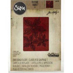 Sizzix/Tim Holtz Texture Fades Embossing Folder – Tattered Poinsettia