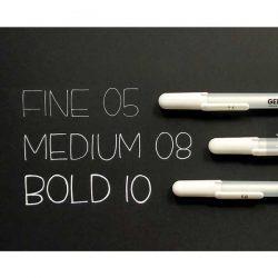 Sakura Gelly Roll Bold Point Pen (10) – White