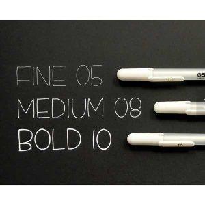 Sakura Gelly Roll Bold Point Pen (10) – White class=