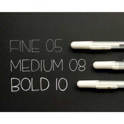 Sakura Gelly Roll Fine Point Pen (05) – White