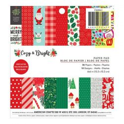"Pebbles Cozy & Bright Paper Pack - 6"" x 6"""