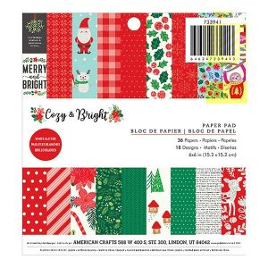 "Pebbles Cozy & Bright Paper Pack - 6"" x 6"""