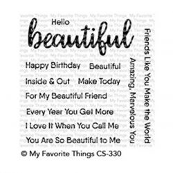 My Favorite Things Hello, Beautiful Stamp Set