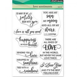Penny Black Love Sentiments Stamp Set