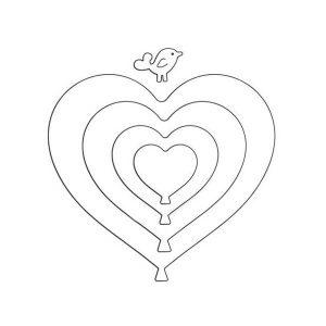 Penny Black Heart Balloons Dies