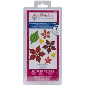 Spellbinders Layered Poinsettia class=
