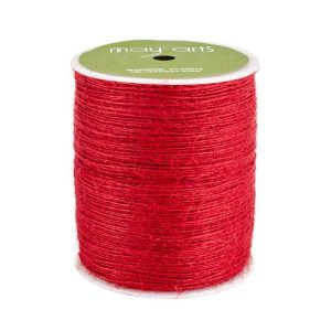 May Arts Burlap String - Red/ 3yds