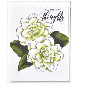 Altenew Wispy Begonia Stamp Set class=