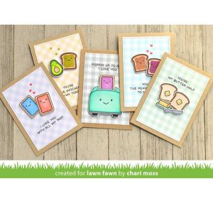 Lawn Fawn Let's Toast Stamp Set class=