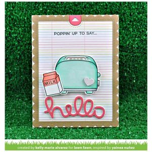 Lawn Fawn Let's Toast Pull Tab Add-On Lawn Cuts class=