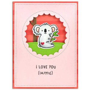 Lawn Fawn I Love You (calyptus) Stamp Set class=
