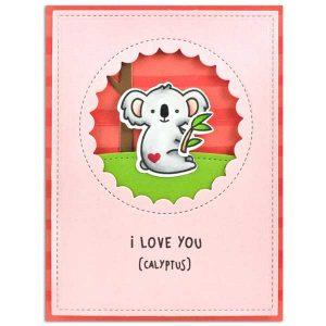 Lawn Fawn I Love You (calyptus) Stamp Set class=
