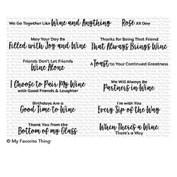 54e0a9ac0 My Favorite Things Good Time to Wine Stamp Set - The Foiled Fox