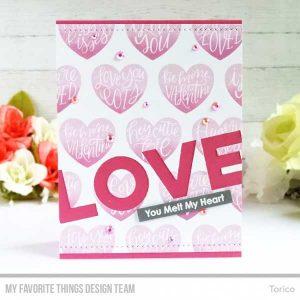 My Favorite Things Heart Art Stamp Set class=
