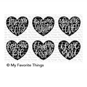 My Favorite Things Heart Art Stamp Set