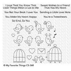 My Favorite Things Tweethearts Stamp Set