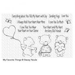 My Favorite Things SY Joyful Heart Bears Stamp Set