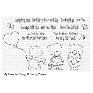 My Favorite Things SY Joyful Heart Bears Stamp Set