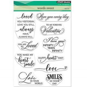Penny Black Words Sweet Stamp Set class=