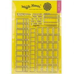 Waffle Flower Color Swatches Stamp Set