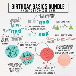 Concord & 9th Birthday Basics Dies