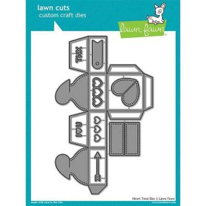 Lawn Fawn Heart Treat Box Lawn Cuts