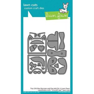 Lawn Fawn Tiny Gift Box Raccoon and Fox Add-on Lawn Cuts