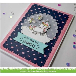 Lawn Fawn Polka Heart Backdrop Lawn Cuts - Portrait class=