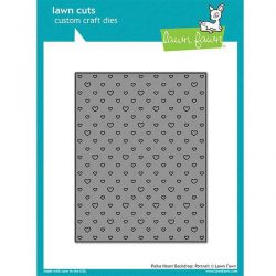 Lawn Fawn Polka Heart Backdrop Lawn Cuts - Portrait