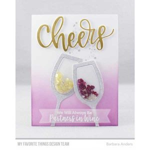 My Favorite Things Wine Glass Shaker Window & Frame Die-namics class=