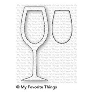 My Favorite Things Wine Glass Shaker Window & Frame Die-namics