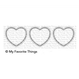 My Favorite Things Heart Trio Shaker Window Die-namics