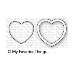 My Favorite Things Mini Heart Shaker Window & Frame Die-namics