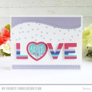 My Favorite Things Mini Heart Shaker Window & Frame Die-namics class=