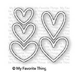 My Favorite Things Lots of Hearts Outlines Die-namics