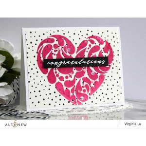Altenew Flowing Hearts Stencil class=